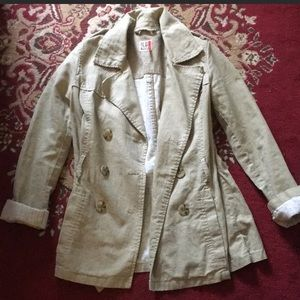 Linen and cotton trench jacket